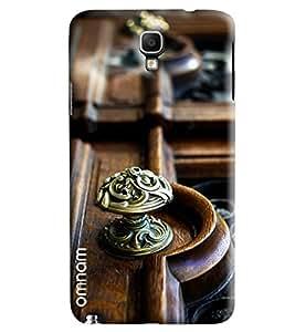 Omnam Brass Holder On Wooden Printed Designer Back Case Samsung Galaxy Note 3 Neo