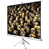 Portable And Steady Tripod Installation Design 100 Inch 70x70 Square Projector Screen With Stand Ideal For Home Theater Movies