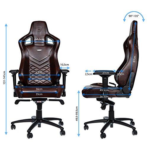 noblechairs EPIC Echtleder Gaming Stuhl - braun/schwarz -