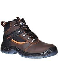 Portwest - Calzado de protección para hombre, color negro, talla 41.5