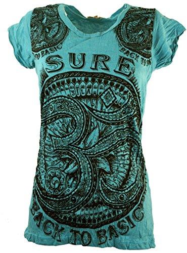 edfc949a5d1a Guru-Shop Sure T-Shirt OM, Damen, Baumwolle, Bedrucktes Shirt Alternative