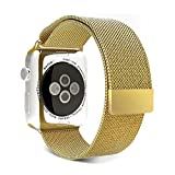 Blesihu-Watch-Band-for-Apple-Watch-Stainless-Steel-Magnetic-Closure-Clasp-Milanese-Loop-Mesh-Band-for-Apple-Watch-Sport-Gold-42mm