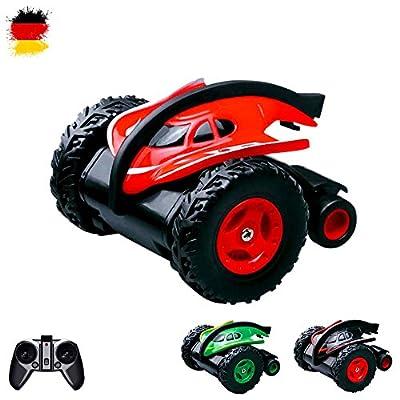 RC ferngesteuerter Droiden-Fahrzeug Jumping Car mit faszinierender Sprungfunktion, Drehungen von 360° per Knopfdruck, Auto-Modell, Komplett-Set RTR inkl. Fernsteuerung, Akku und Ladegerät von HSP Himoto