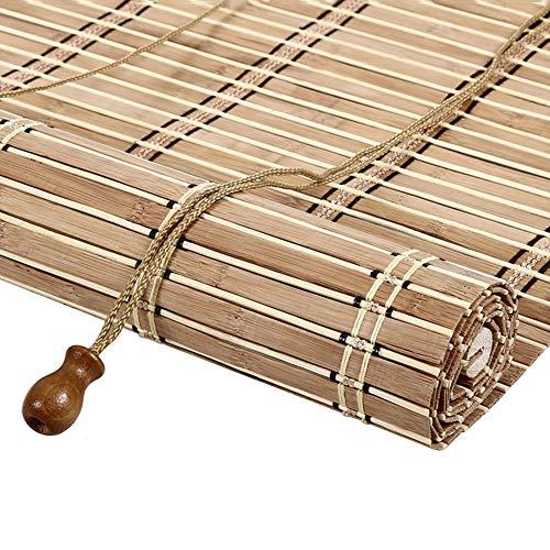 Tenda di bambù tenda a rullo di bambù tende oscuranti protezione solare, schermo di soggiorno domestico retro sollevamento, colore carbonizzato, dimensioni personalizzabili tende a rullo
