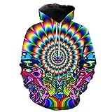 FINDMAX Sweatshirt 3D Print Plus Größe Hot Psychedelic Muster Unisex Casual Stilvolle Hoodies