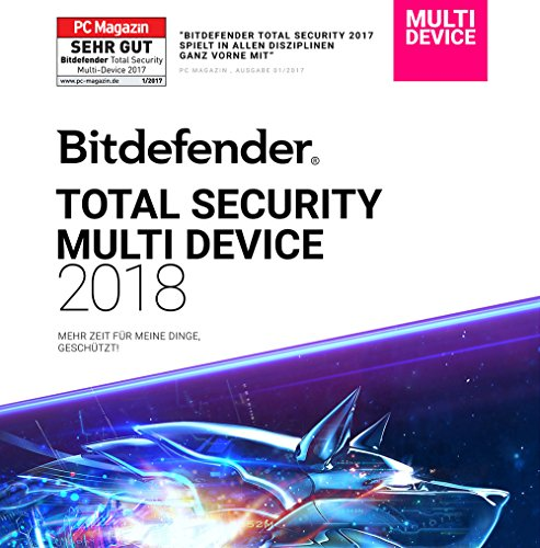 Bitdefender Total Security Multi Device 2018 - 1 Jahr / 5 Geräte + VPN