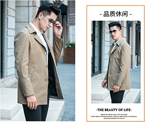 WS668 Herren Casual Business Mantel Gute Qualität Lang Groß Mode Windbreaker Winddicht Overcoat Mens Fashion Jacket Khaki