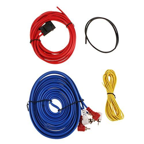Sharplace Auto-Audio-Subwoofer Sub-Verstärker Amp RCA-Verkabelung Stromkabel Kit -