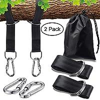 AidSci Correa para Columpio de árbol, 2 Unidades 1000KG Kit De Sujeción de Hamaca, Fijación Bandas de Sujeción Ajustable Seguro para Hamacas, Columpios, Yoga