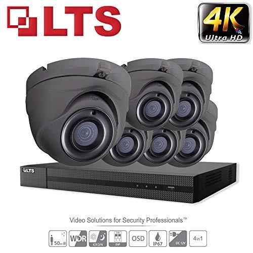 Hikvision iVMS-4500 Überwachungskamera-System, Full HD, 1080p, 8-Kanal-DVR, HD, TVI, H.265+, DVR, 3MP, bis zu 6 TB, 2,8 mm, Kuppel, 6 x Kamera, für Innen- und Außenbereich, 25 m Nachtsicht, IR-Kit - Dvr-system Kit
