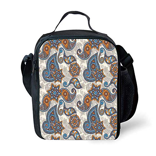f2dc7ed95a5f MLNHY School Supplies Vintage,Ethnic Tribal Paisley Design with Floral  Detail Abstract Backdrop Decorative,Marigold Violet Blue Beige for Girls Or  ...