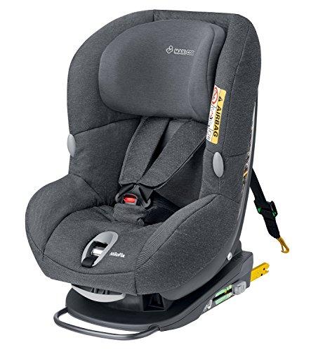 Maxi-Cosi MiloFix - Reboarder Kindersitz, Gruppe 0+/1 (0-18 kg), Kinderautositz mit Isofix, sparkling grey