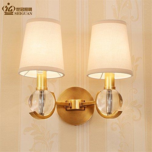 SQIAO moderne LED Wandleuchte Das Wohnzimmer Lampensockel Europa Kronleuchter Lampen Licht Restaurant bronze Lampen luxus Atmosphäre während des Messing Kronleuchter (39 * 37 cm)