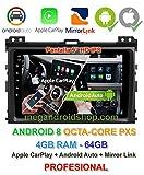 Radio 2din GPS, Android 8, Pantalla IPS, OctaCore PX5 64bits, 4GB DDR3 RAM, 64GB Apple Car Play Android Auto Toyota Land Cruiser KDJ 120 (+2002) y Toyota Prado (+2002)