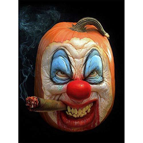 hnung DiamantStickerei 5D DIY Diamant Malerei Kreuzstich Halloween Kürbis ClownBild AlleMosaik Dekorationen Für Hause 70X90 cm Platz ()