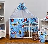 Ensemble set complet 13 pieces parure de lit literie pour bébé 120x60 (lit) (dessin: voitures souriantes)...