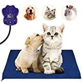 UOKOO- Almohadilla de calefacción para Mascotas, Calentador eléctrico, para Perros, Gatos, Masticar, Resistente con Dos Fundas de Forro Polar