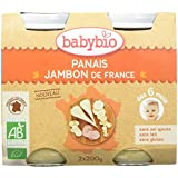 Babybio Pots Panais/Jambon de France Bio 2x200g -
