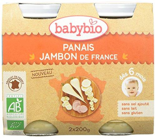 Babybio Pots Panais/Jambon de France Bio 2x200g - Lot de 6