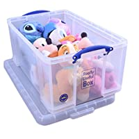 Really Useful 64 Litre Storage Box, Clear