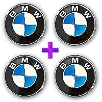 4 X originale BMW centro della ruota in lega copre Copri mozzo cromato, 68 mm (5 clip)