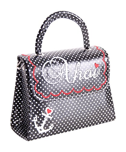SugarShock Siska 50er retro vintage style Ahoi Polka Dots Koffer Handtasche Rockabilly Pin Up Köfferchen -