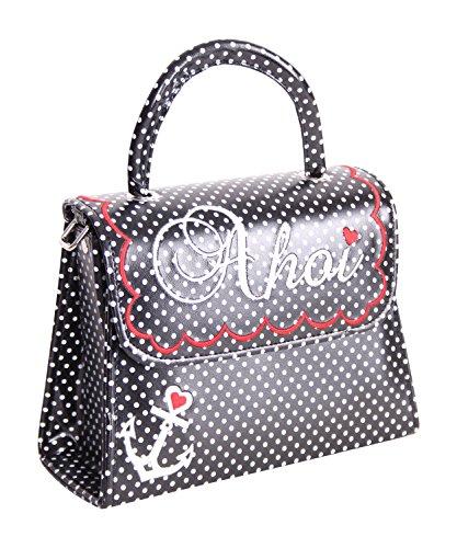 SugarShock Siska 50er retro vintage style Ahoi Polka Dots Koffer Handtasche Rockabilly Pin Up Köfferchen -