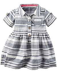 Carters Baby Girls Striped Dress 9 Months