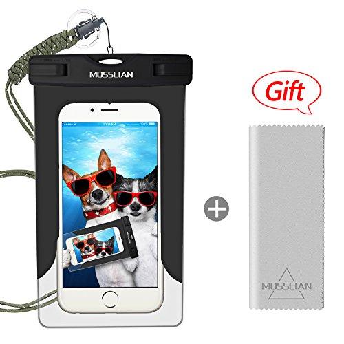 Custodia Impermeabile MOSSLIAN Waterproof Phone Case con Panno in Microfibra per Huawei P10 / P9, iPhone 7/ 7 Plus/ SE / 6s / 6s Plus / 6 / 6 Plus, Samsung S7 / S7 edge / S6 ed altri Cellulari di Apple & Android Meno di 6 Pollici