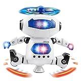 KOBWA Tanzen Roboter Fernbedienung Roboter Spielzeug 360 ° Rotierenden Elektro Tanzen Roboter Kinder Spielzeug, für Licht und Musik Tanzen Elektrische Roboter Modell Spielzeug