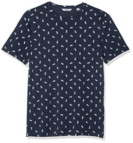 Fitted Dress Shirt (ONLY & SONS Herren onsPINEAPPLE SS DITSY FITTED TEE T-Shirt, Mehrfarbig (Dress Blues), X-Large (Herstellergröße: XL))