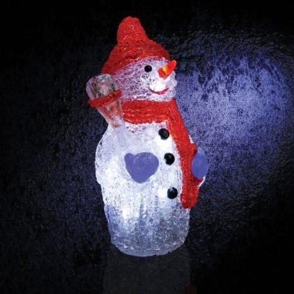 Bonhomme de neige 12 LED 15cm