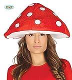 Guirca Cappello da Fungo per Adulto, Colore Rosso e Bianco, Taglia Unica, 41174