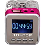 Andoer Tomtop Mini Digital Music Portatile MP3 / 4 Player micro SD / TF USB Disk dell'altoparlante FM Radio