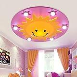 GB-LED-Master-Schlafzimmer Kinderzimmer Deckenlampe Auge Junge Mädchen Karikatur Sonne Lampen Beleuchtung der Sterne