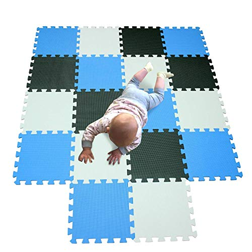 YMKFM 18Pcs Multicolor Puzzled Eva Soft Foam Kinderspielplatz Matte - Puzzle Board Portable Faltbare Baby-Krabbeldecke (Color : B) (Puzzle Board Portable)