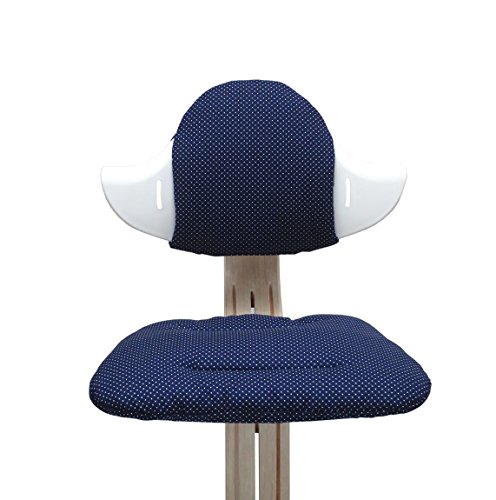 Blausberg Baby - Sitzkissen Set für Nomi Hochstuhl - Blau Pünktchen