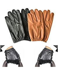 Prime Classic Men's Police Gloves Slim Fit Tactical Dress Glove Chauffeur Real Cow Nappa Leather 083