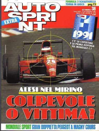Autosprint Auto Sprint 38 del Settembre 1991 Senna Mansell Lucchini
