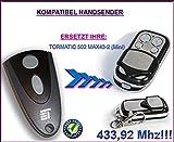 Novoferm / Novotron 502 MAX43-2 (Mini) kompatibel handsender, 4-kanal ersatz sender, 433.92Mhz rolling code. Top Qualität ersatzgerät!!!