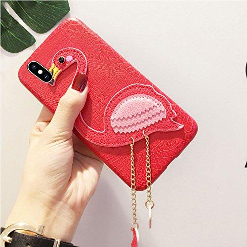 Vandot Exclusif Design Coque Étui pour iPhone X / iPhone 10 Détachable Air Plastique Dure de PC Retour Bumper Case Cover pour iPhone X 5.8 Pouces Ultra Slim Thin 0,9 mm Matte Building Pratiques de Pro Flamingo-Rouge