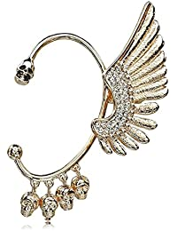 Shining Diva Fashion Crystal Ear Cuff for Women and Girls(Golden)(7288ec)