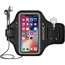 iPhone X Brazalete,JEMACHE Exclusivo Running Pasear Ejercicio Gimnasio Deportivo Brazo Banda Armband para iPhone X/10 (Negro)