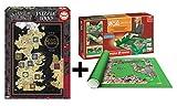 Pack Puzzle Educa 17113. Juego de tronos. 1000 piezas + Tapete universal Puzzle...