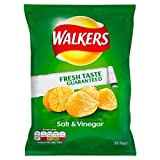 Walkers Chips Salt & Vinegar - 48 x 32.5gr