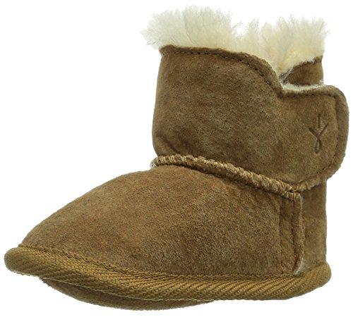 Emu Leder (Emu Baby Bootie, Unisex Baby Krabbelschuhe, Beige (Chestnut), L (12-18 Monate))