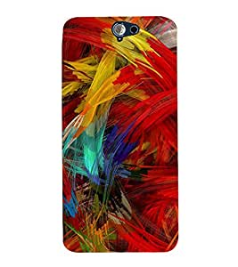 99Sublimation Animated Feather 3D Hard Polycarbonate Back Case Cover for HTC One A9