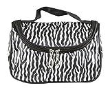 Tenflyer Zebra-Streifen-Verfassungs-Beutel-Glanzleder-wasserdichte-kosmetischer Beutel-Handtasche Travel Gelegenheitsbörse Für Damen