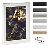Bilderrahmen RICO schmal mit Acrylglas 59,4x84cm (DIN A1) Weiß (matt)