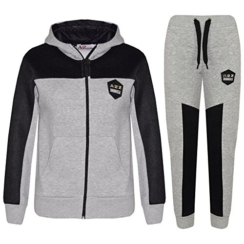 A2Z 4 Kids® Kids Tracksuit Designer's Boys Girls A2Z Project Fashion Mesh Panels Zipped Top & Botom Jogging Suit Joggers Age 7 8 9 10 11 12 13 Years